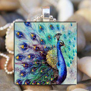 Necklace- NEW- Beautiful Peacock Bird